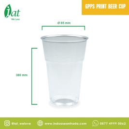 GPPS Pint Beer Cup D85 mm  380 mm